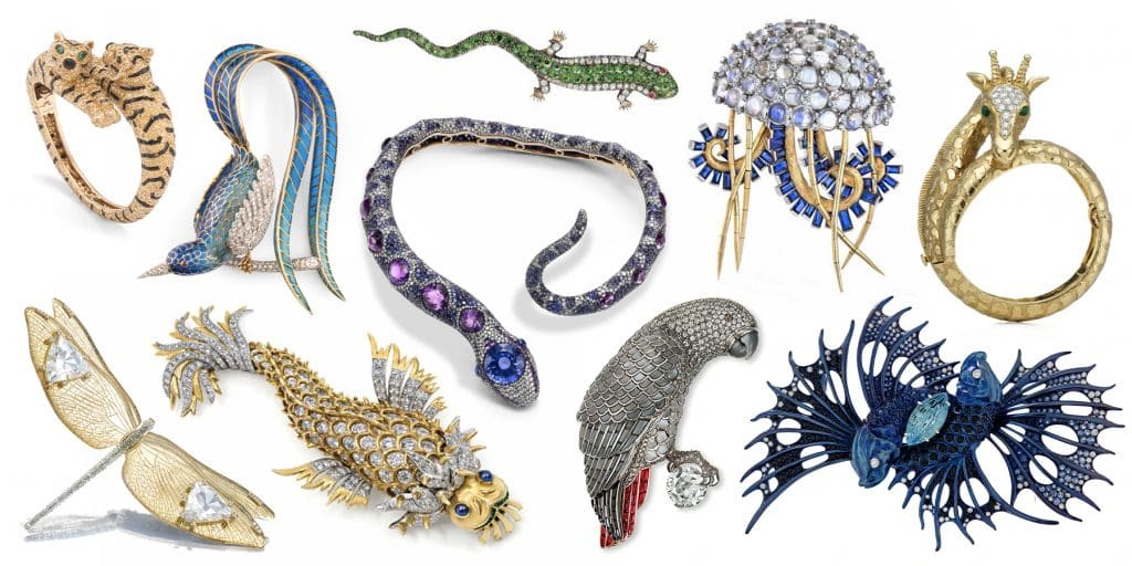 A bestiary of jewelry from the book Beautiful Creatures, by Marion Fasel