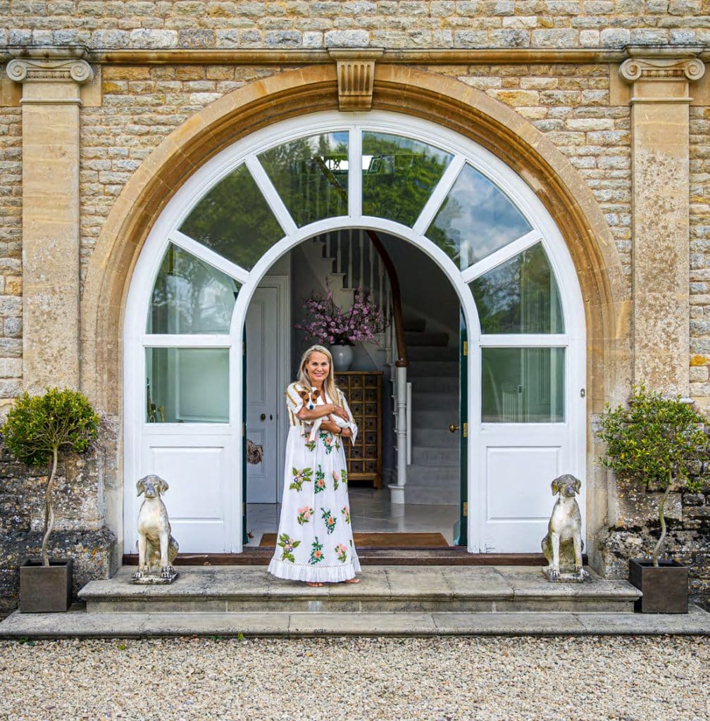 Rizzoli book At Home in the English Countryside: Designers and Their Dogs Susanna Salk Stacy Bewkes Katharine Pooley Jack Russell terrior