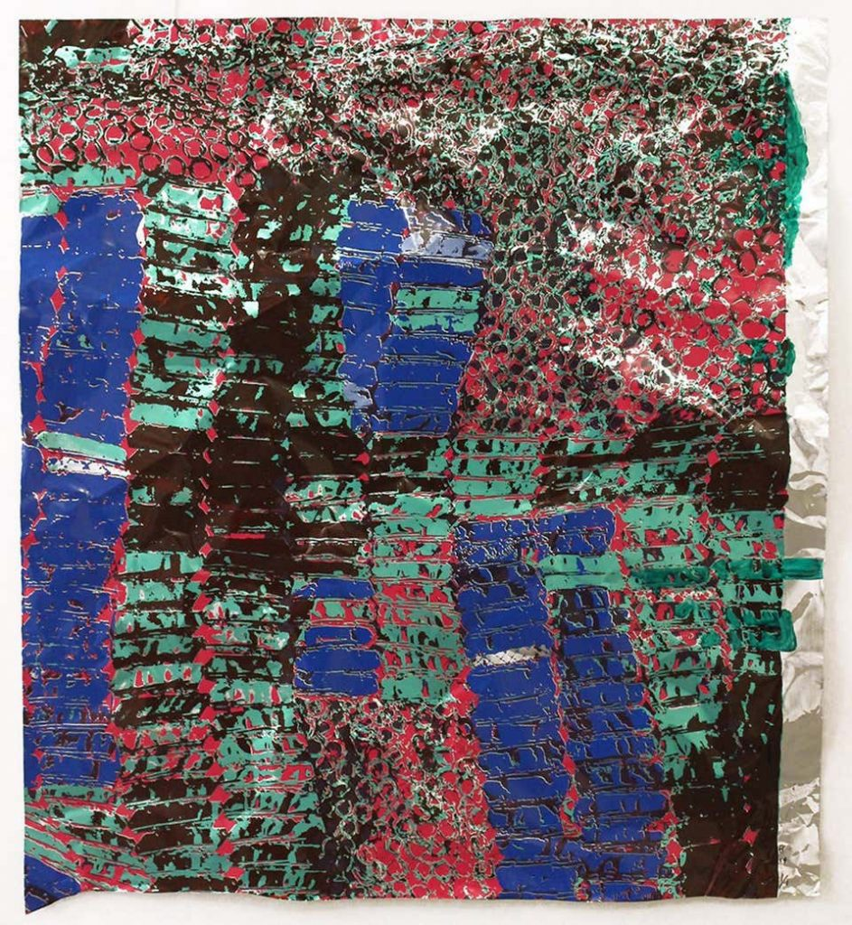 Untitled (with Green), 2015, by El Anatsui