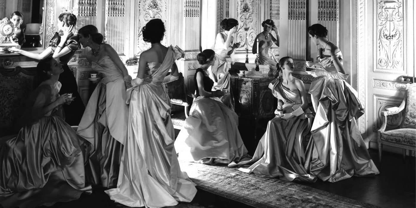 British society photographer Cecil Beaton fashion ball gowns Charles James Vogue 1948 Staley-Wise Gallery.