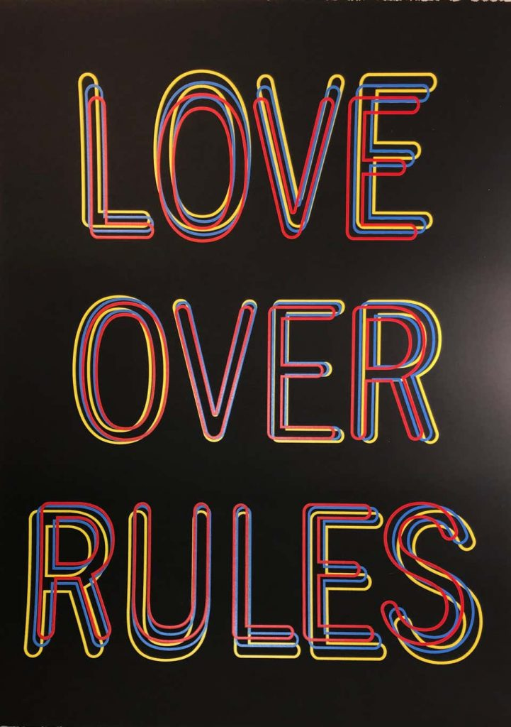 Love Over Rules, 2020, by Hank Willis Thomas