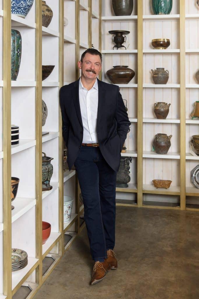Mik Hollis, proprietor of antiques dealer Hollis