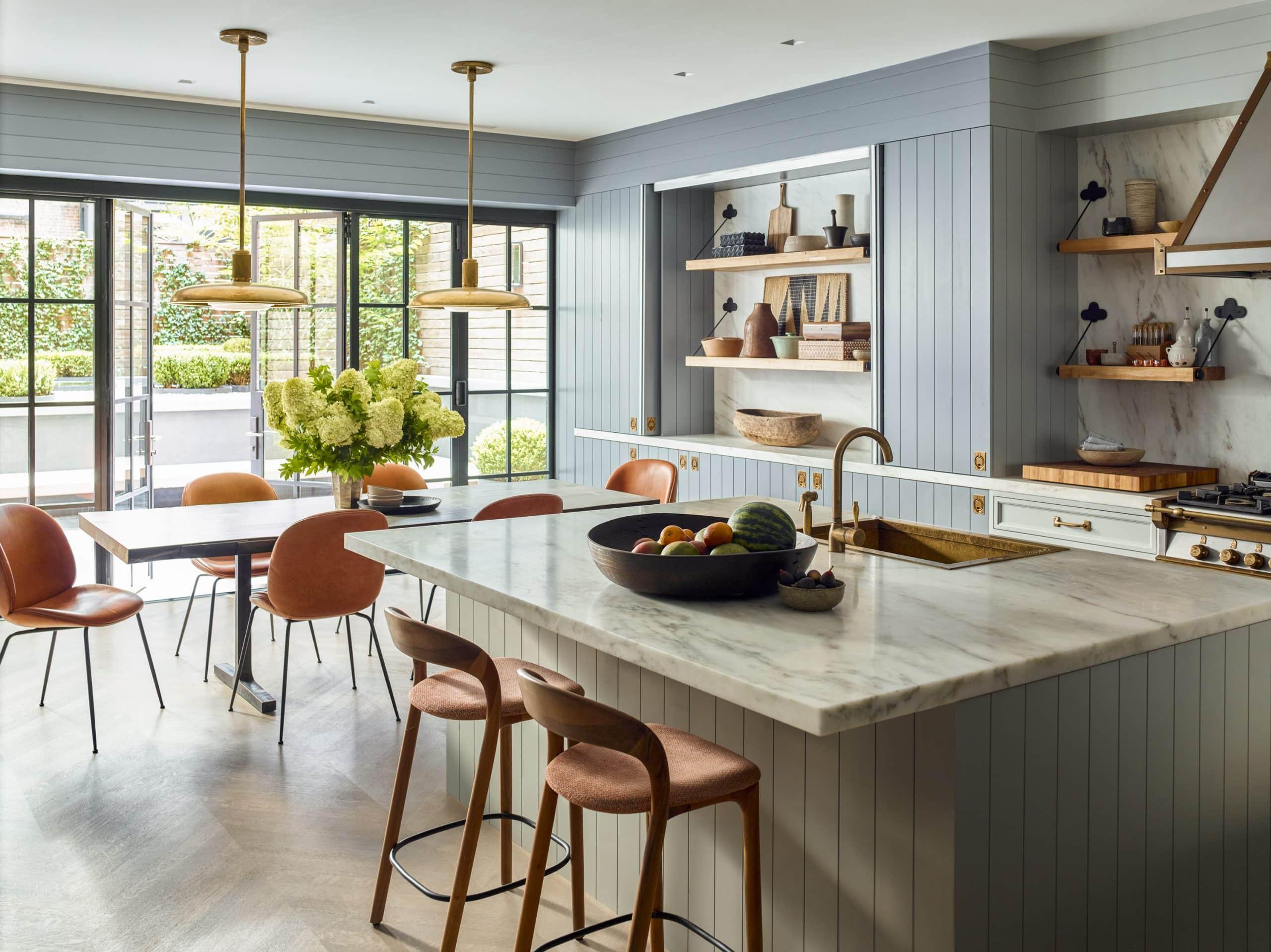 Interior designer Brad Ford West Village townhouse renovation kitchen