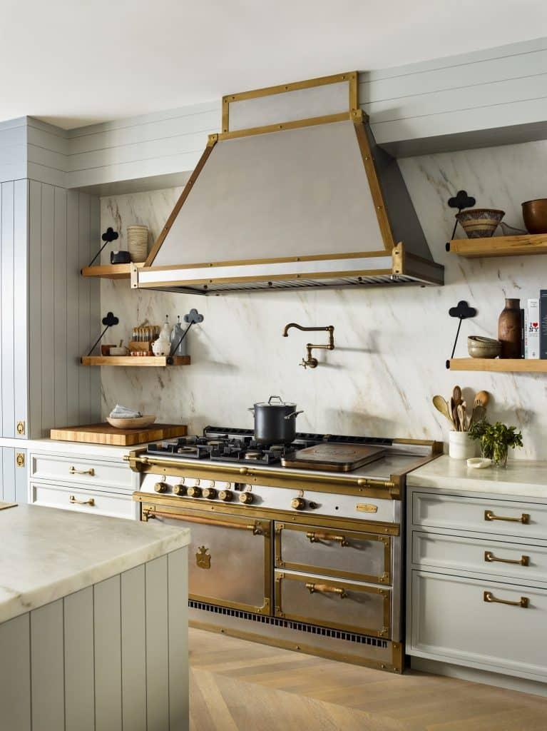 Interior designer Brad Ford West Village townhouse renovation kitchen stove hood