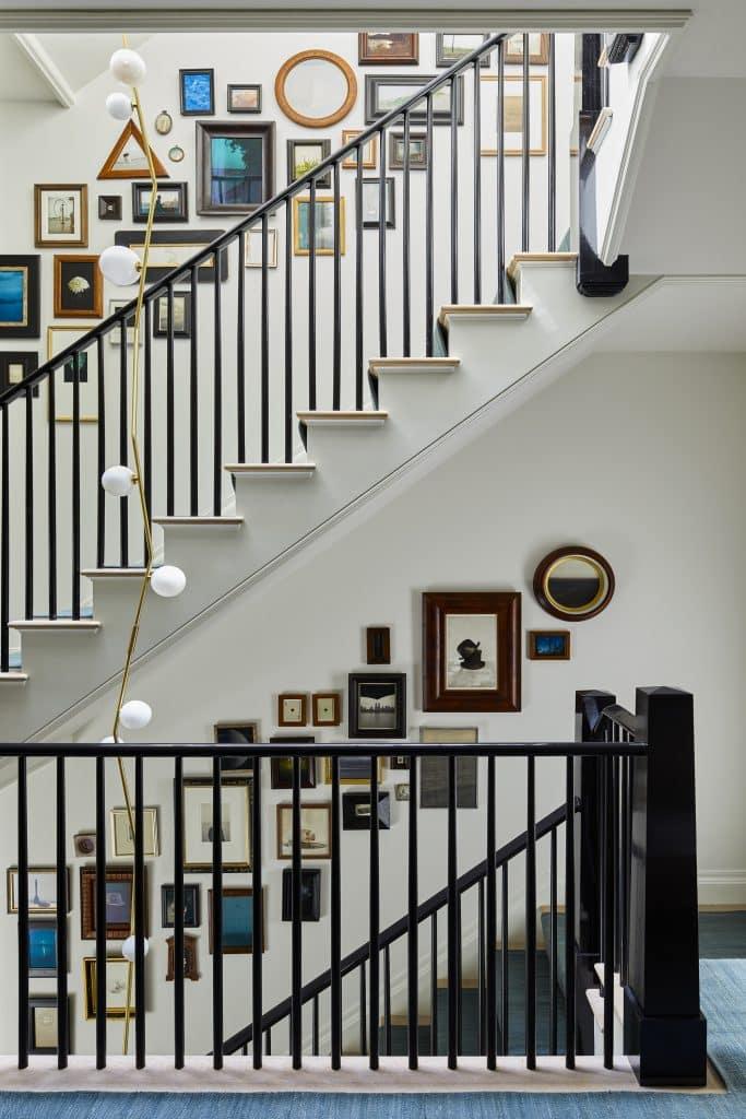 Interior designer Brad Ford West Village townhouse renovation stairwell gallery