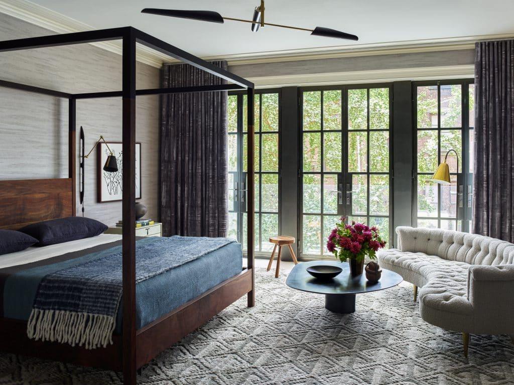 Interior designer Brad Ford West Village townhouse renovation main bedroom