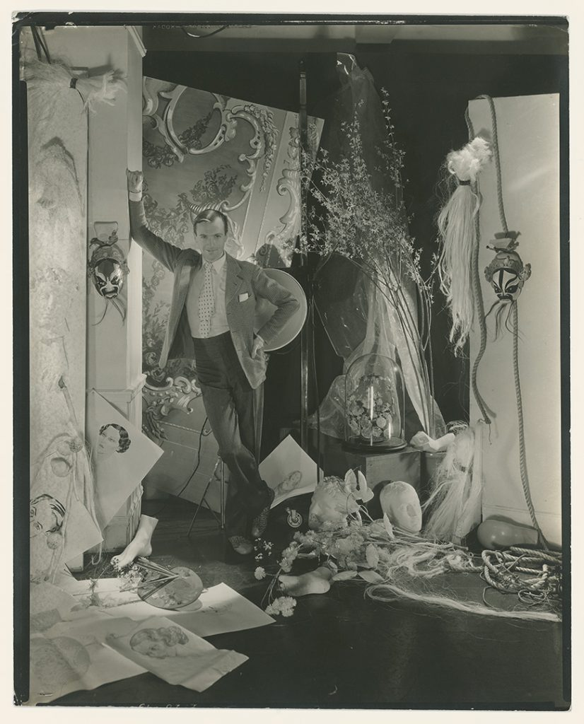 British society photographer Cecil Beaton self-portrait 1930s Condé Nast photo studios New York St. Petersburg's State Hermitage Museum exhibition Cecil Beaton: Celebrating Celebrity