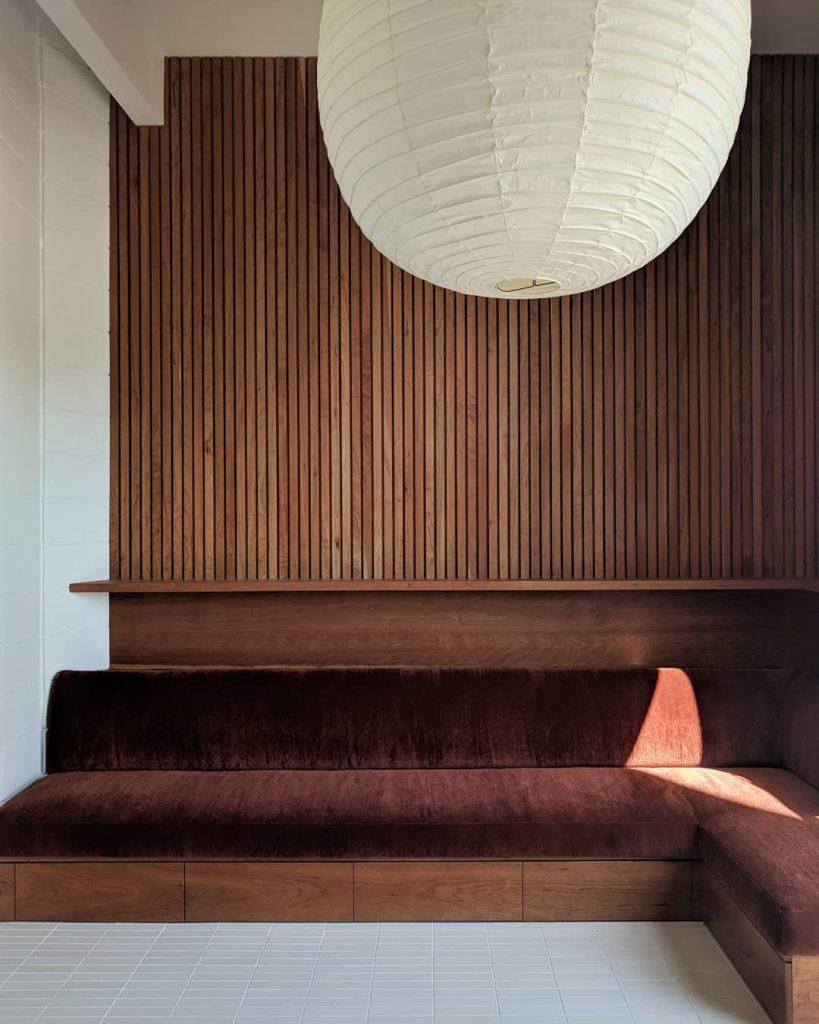 Los Angeles Architectural Designer Ryan Hines Design Los Feliz house Noguchi pendant banquette
