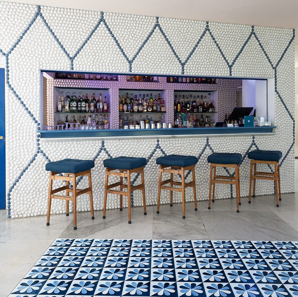 The bar atthe Hotel Parco dei Principi in Sorrento, as seen in the book Gio Ponti, offered by Taschen