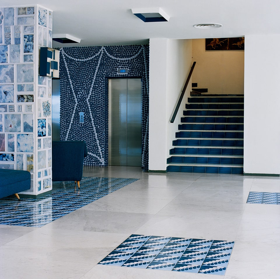 The entrance hall atthe Hotel Parco dei Principi in Sorrento, as seen in the book Gio Ponti, offered by Taschen