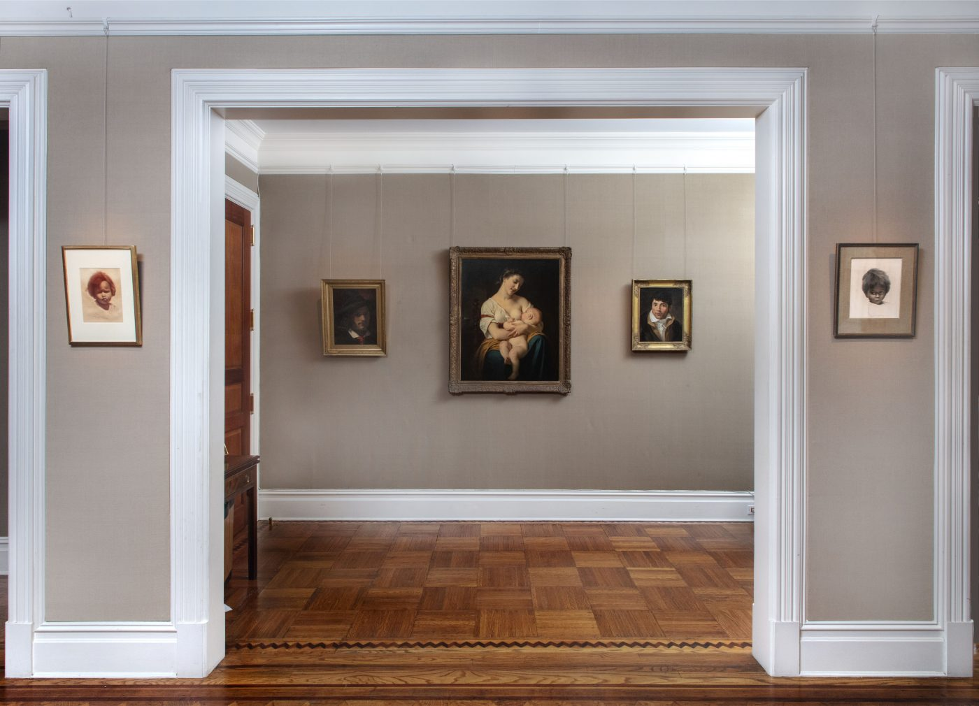 """Paintings on view as part of the recent exhibition series """"New, Old & Unexpected"""" at Robert Simon Fine Art"""