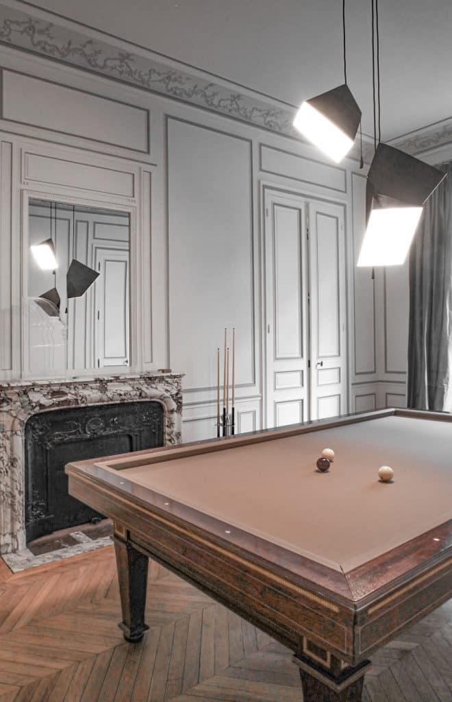 YMER&MALTA Poise pendants in a Paris apartment