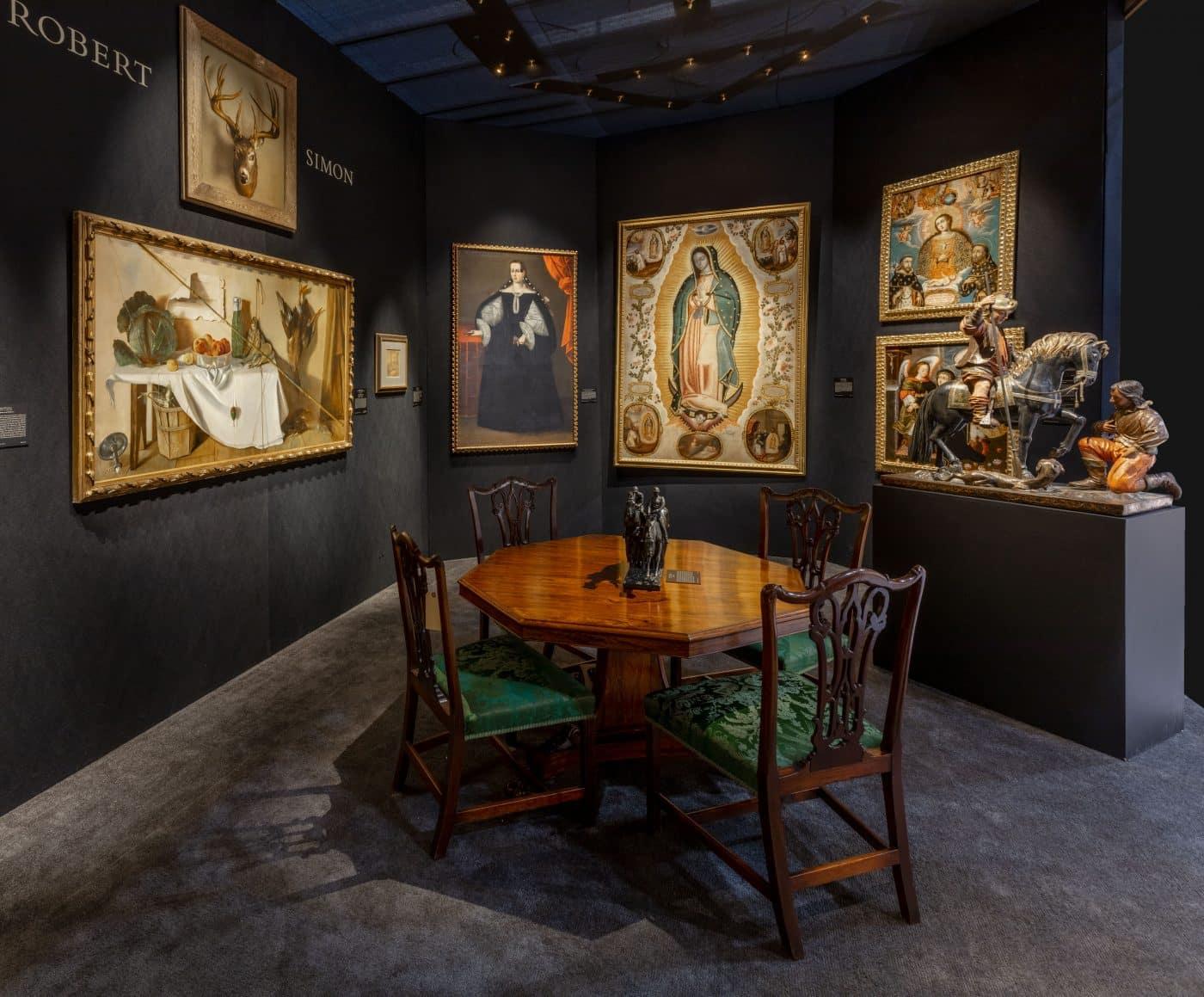 Robert Simon Fine Art's booth at the 2020 Winter Show