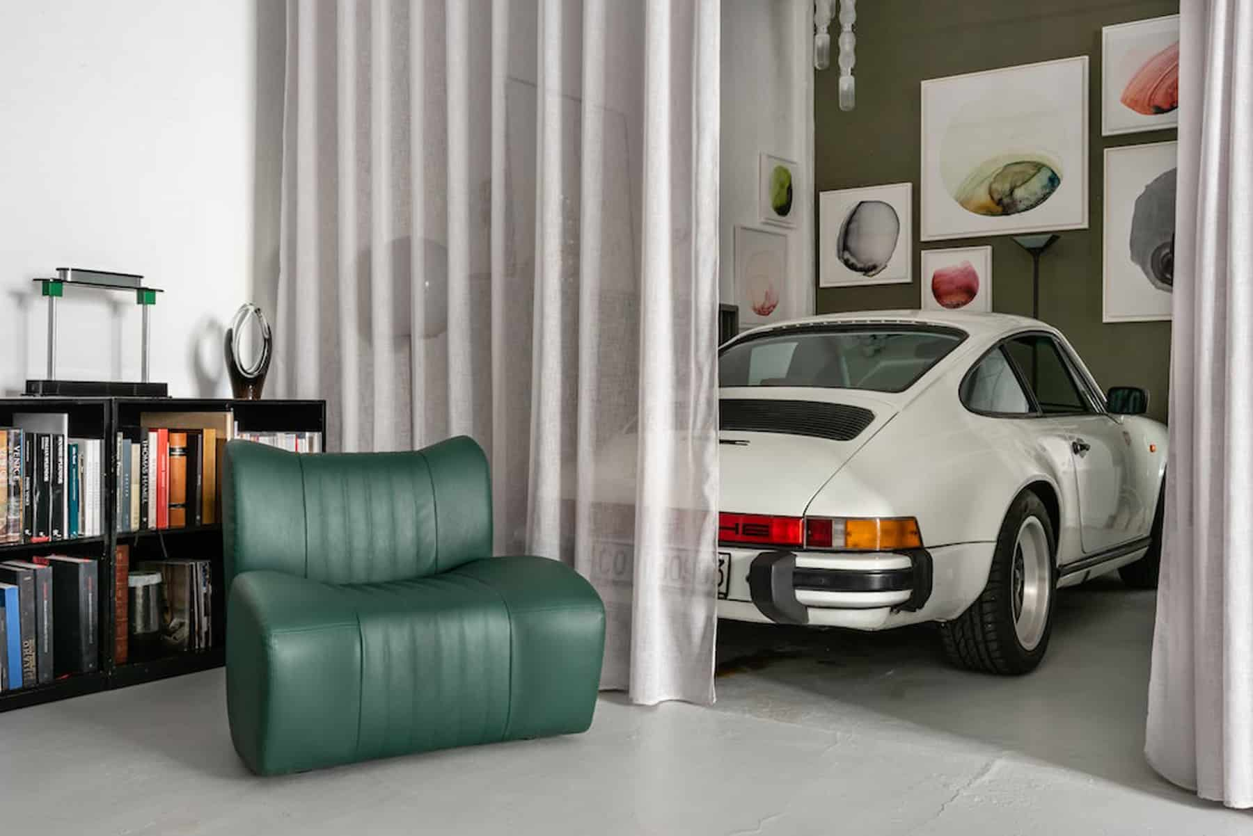 Tommaso Spinzi Porsche and green chair