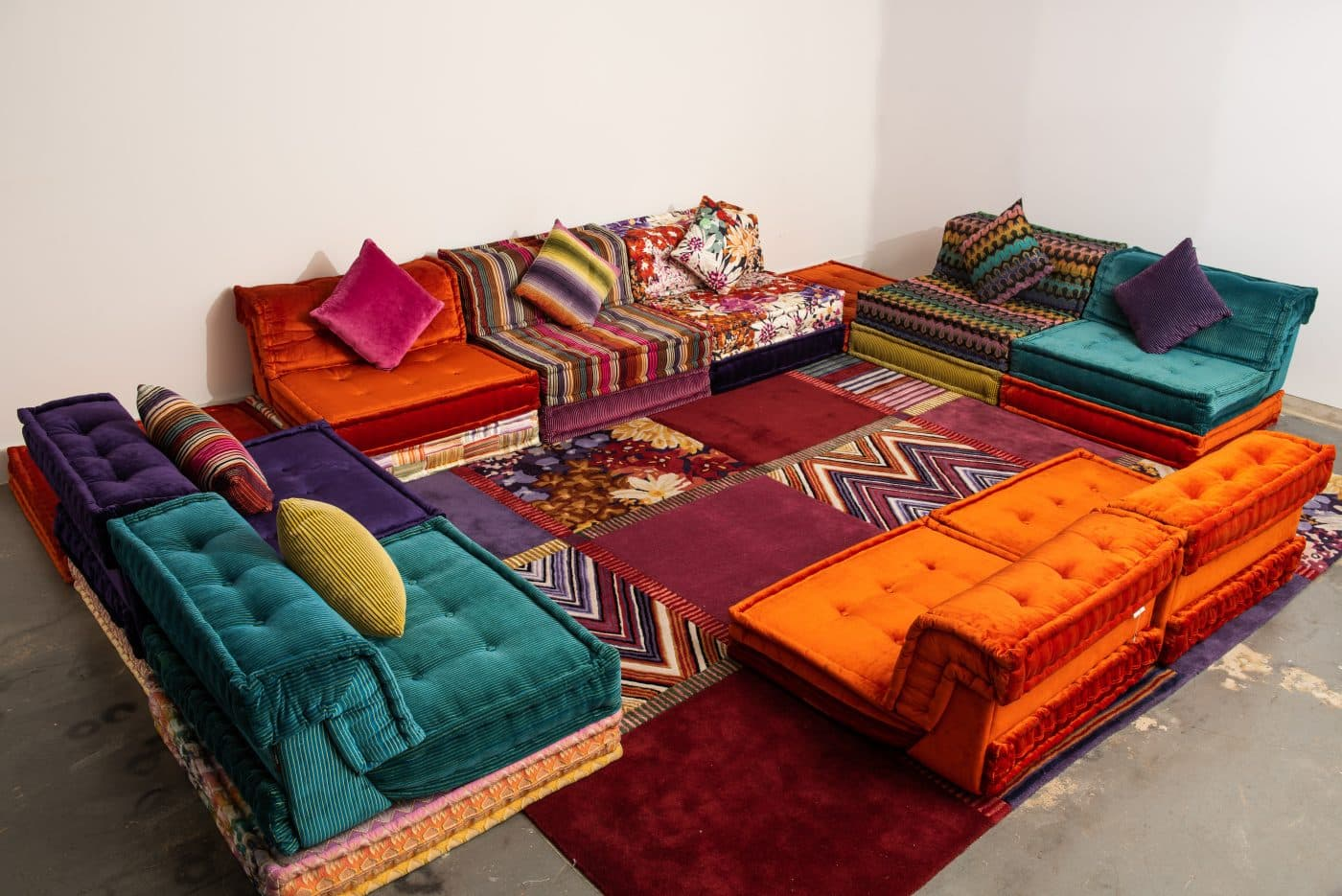 The Missoni for Roche Bobois Mah Jong living room set, offered by Automaton