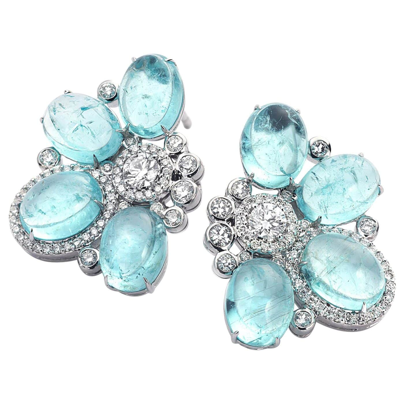 Paraíba tourmaline and diamond earrings designed by Coomi Bhasin