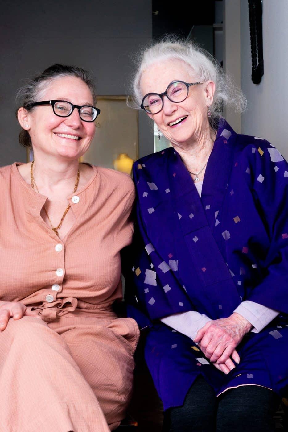 Leonore van der Waals and her mother, Inez Stodel