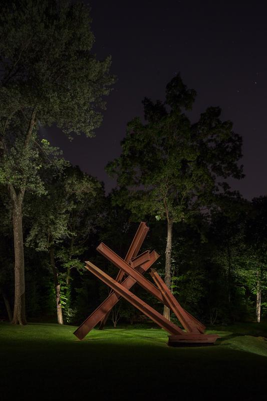 bronze sculpture by Mark di Suvero in Locust Valley, New York