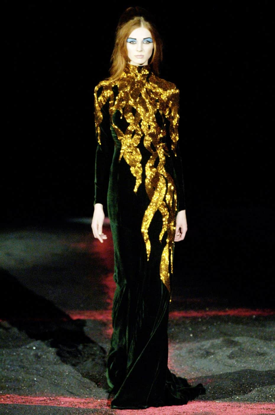 An Alexander McQueen gown from his Autumn/Winter 2007 collection, offered by Marilyn Glass