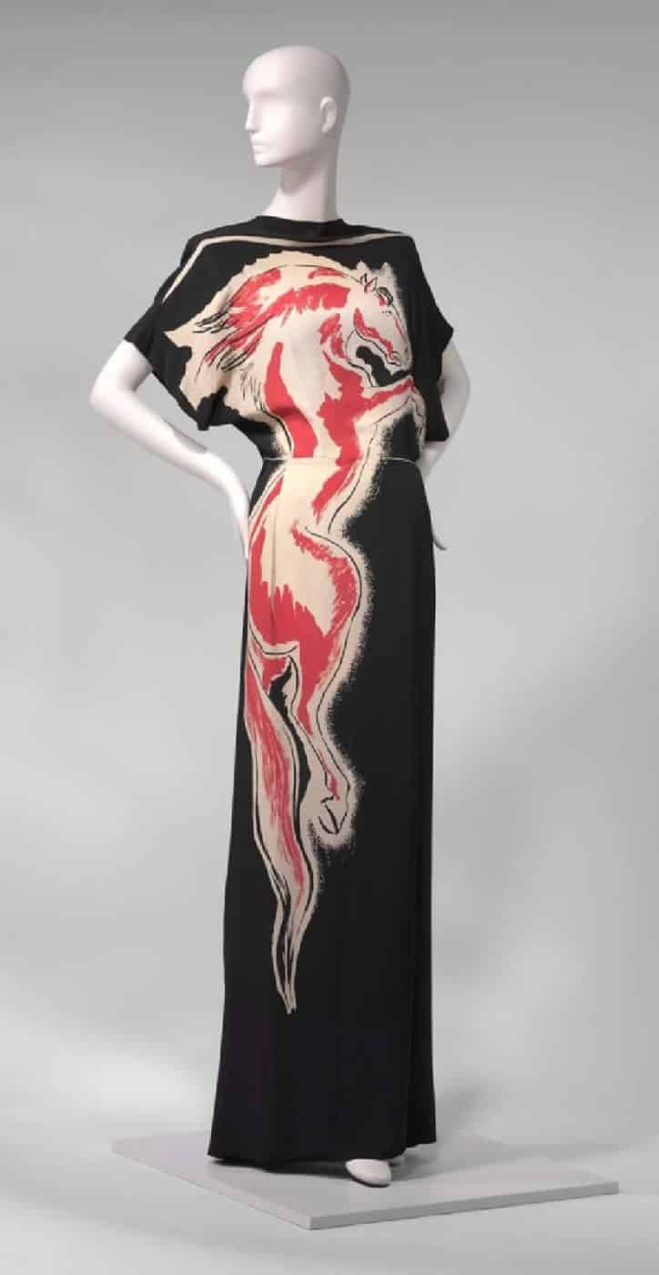 A 1943 gown by Gilbert Adrian, offered by Marilyn Glass