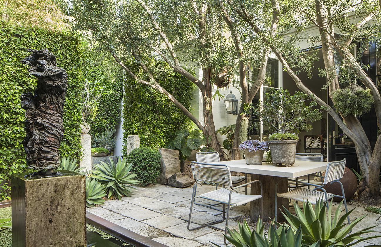 Scott Shrader's own garden in West Hollywood, California