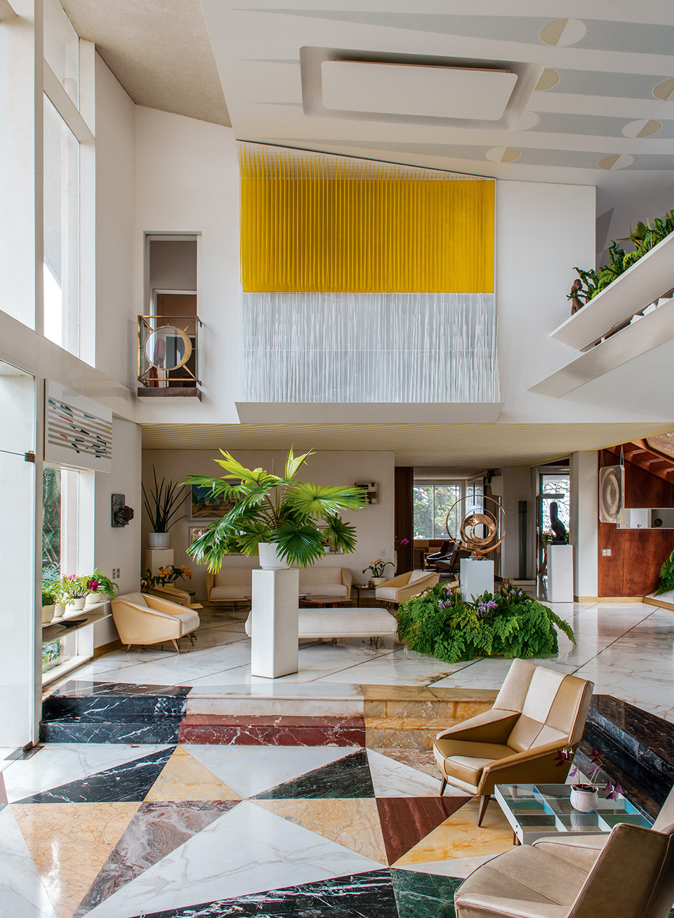 The reception area of Villa Planchart, as seen in the book Gio Ponti, offered by Taschen