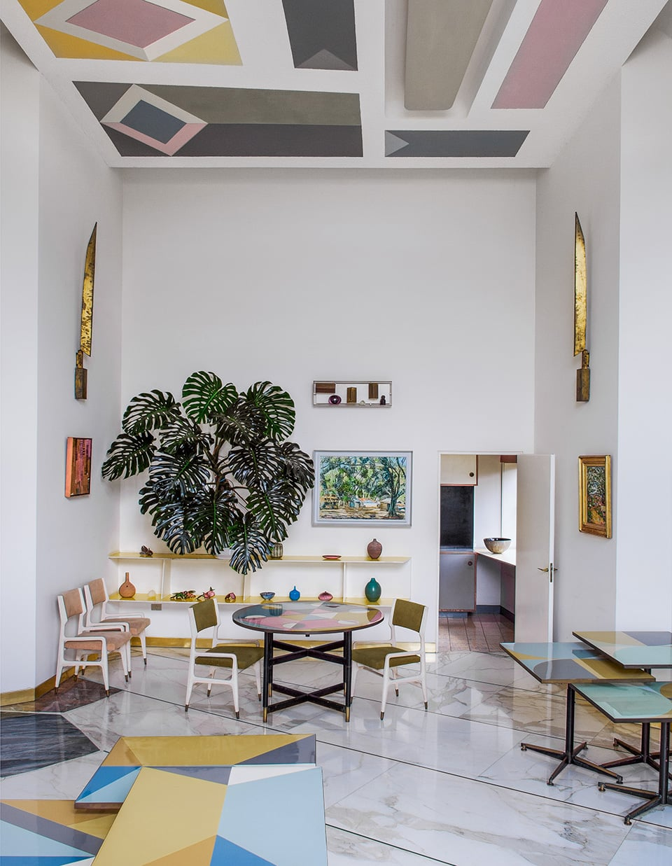 The main dining room of Villa Planchart, as seen in the book Gio Ponti, offered by Taschen