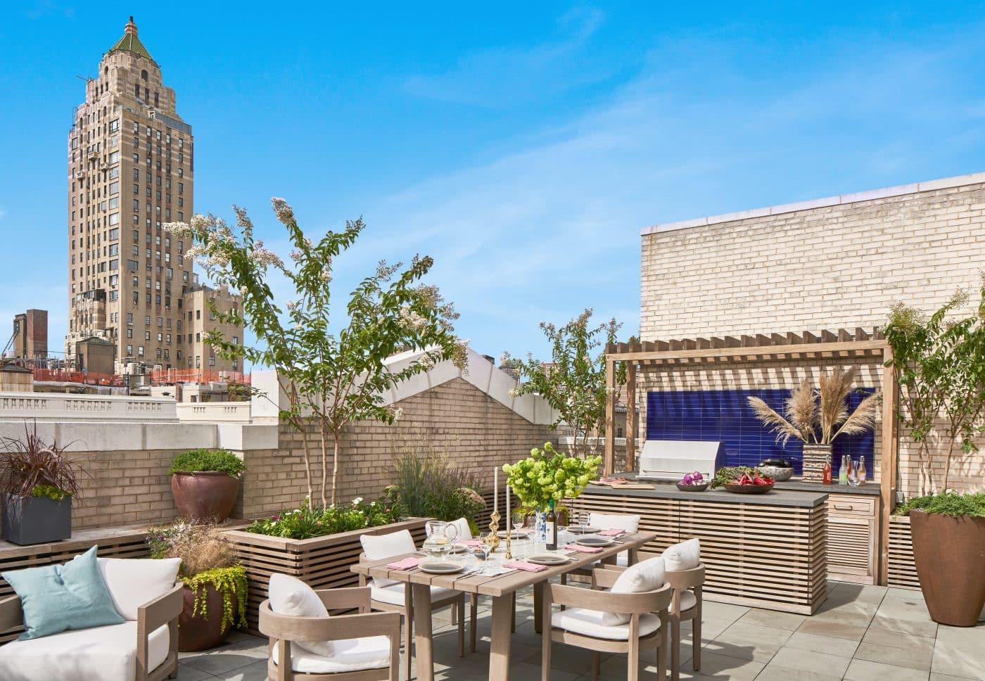 Wesley Moon Park Avenue entertaining terrace
