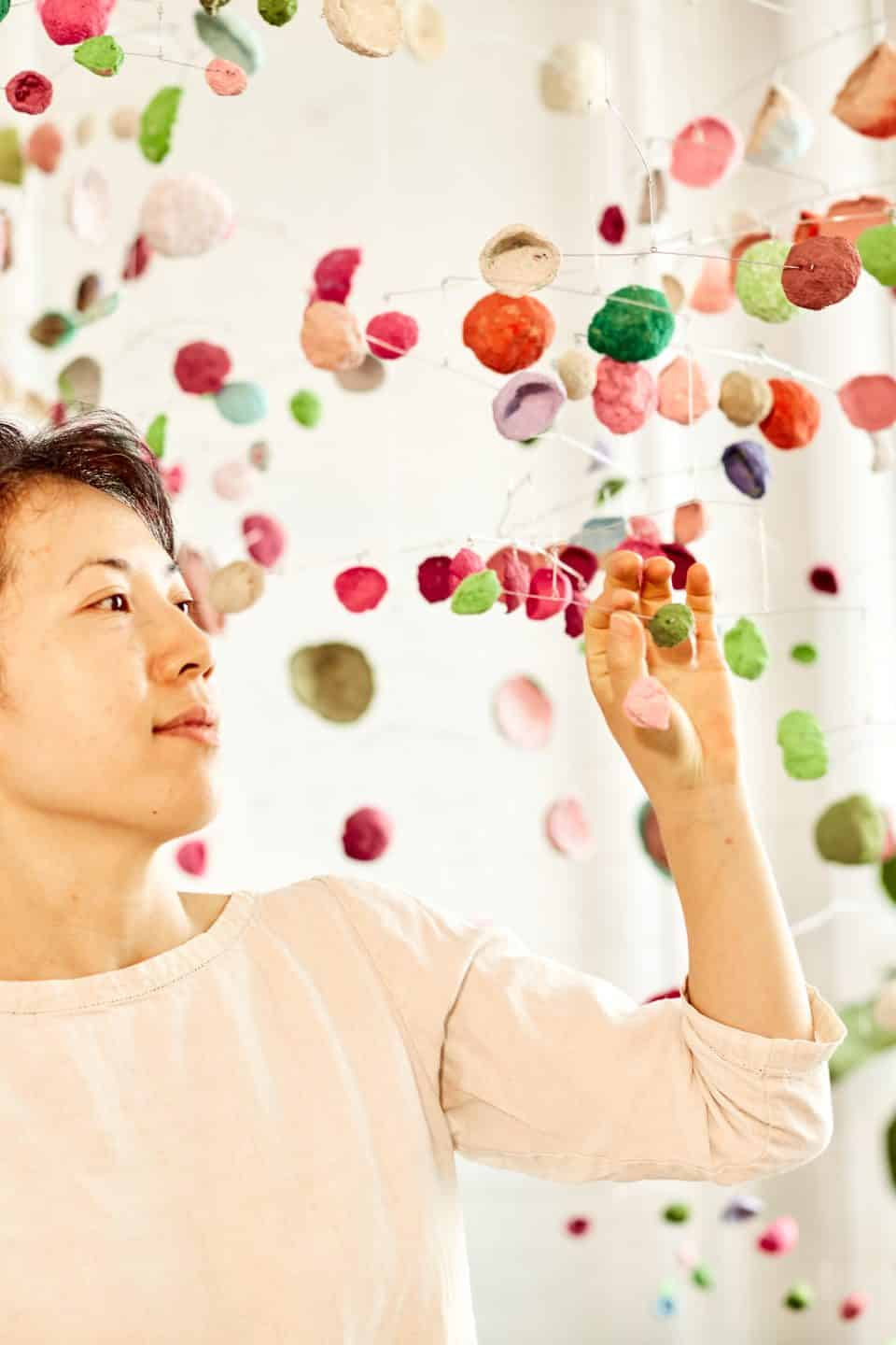 Yuko Nishikawa Wants to Save the Earth's Forests via Her Colorful Mobiles