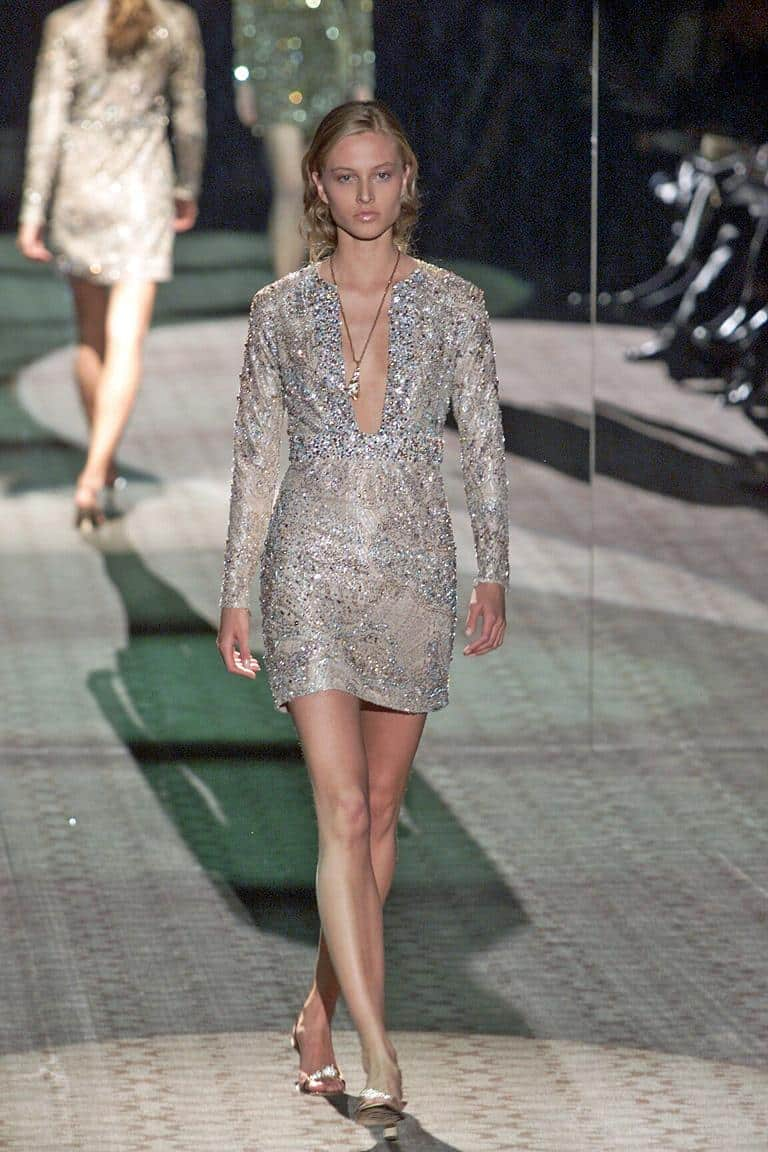 A lace cocktail dress by Tom Ford for Gucci, offered by Marilyn Glass