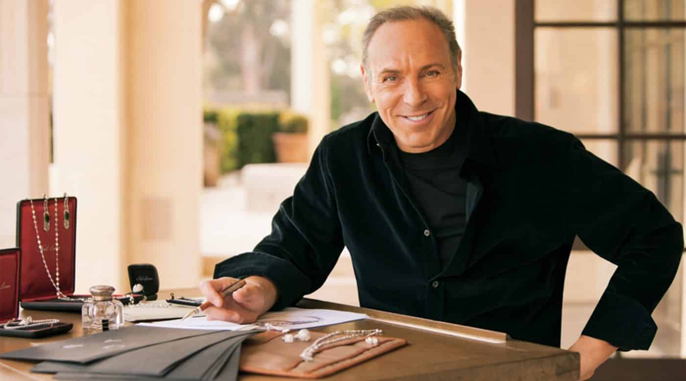 Jeweler Neil Lane sits at the desk in his Los Angeles atelier