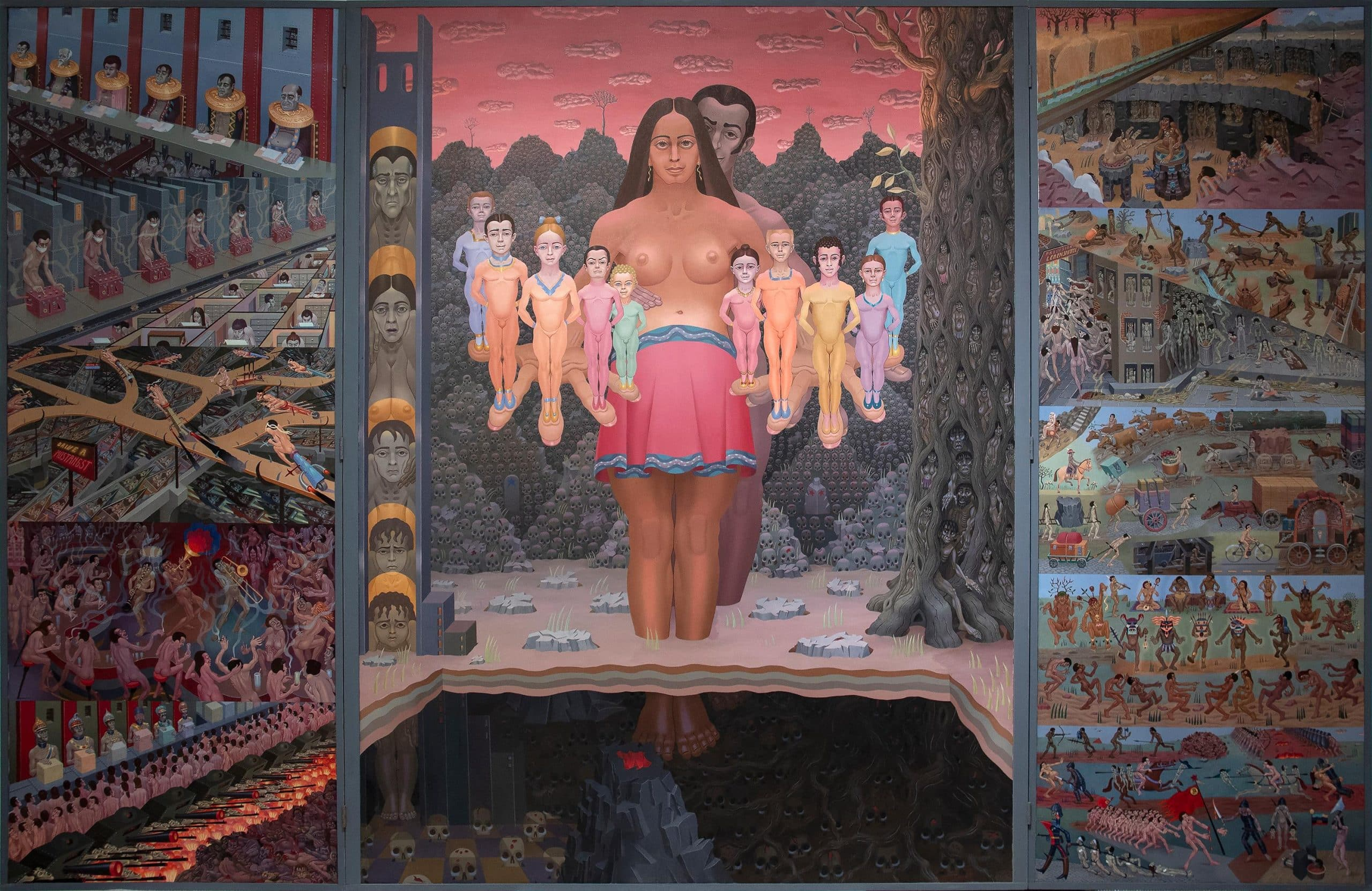 The Human Condition, painted in the late 20th century by Irving Norman and offered by Heather James Fine Art
