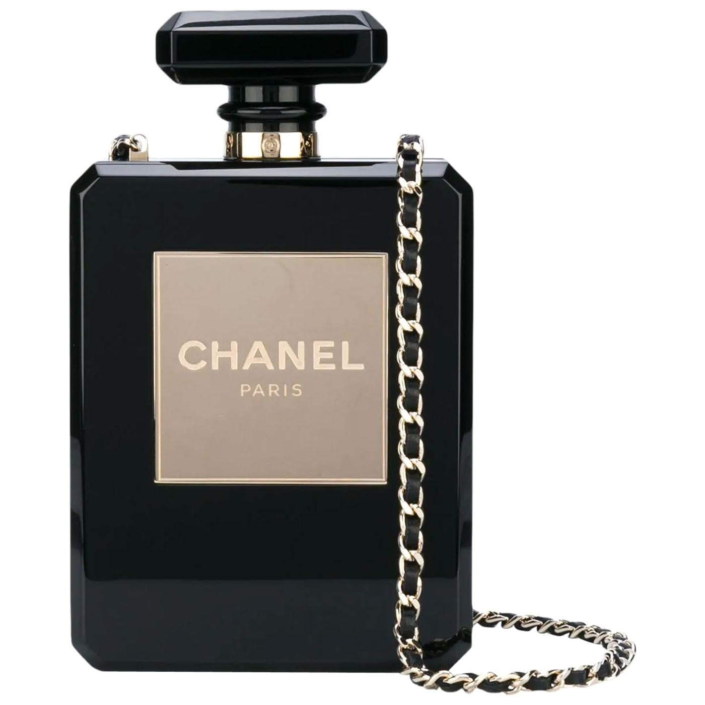 A Chanel handbag shaped like a perfume bottle, offered by House of Carver
