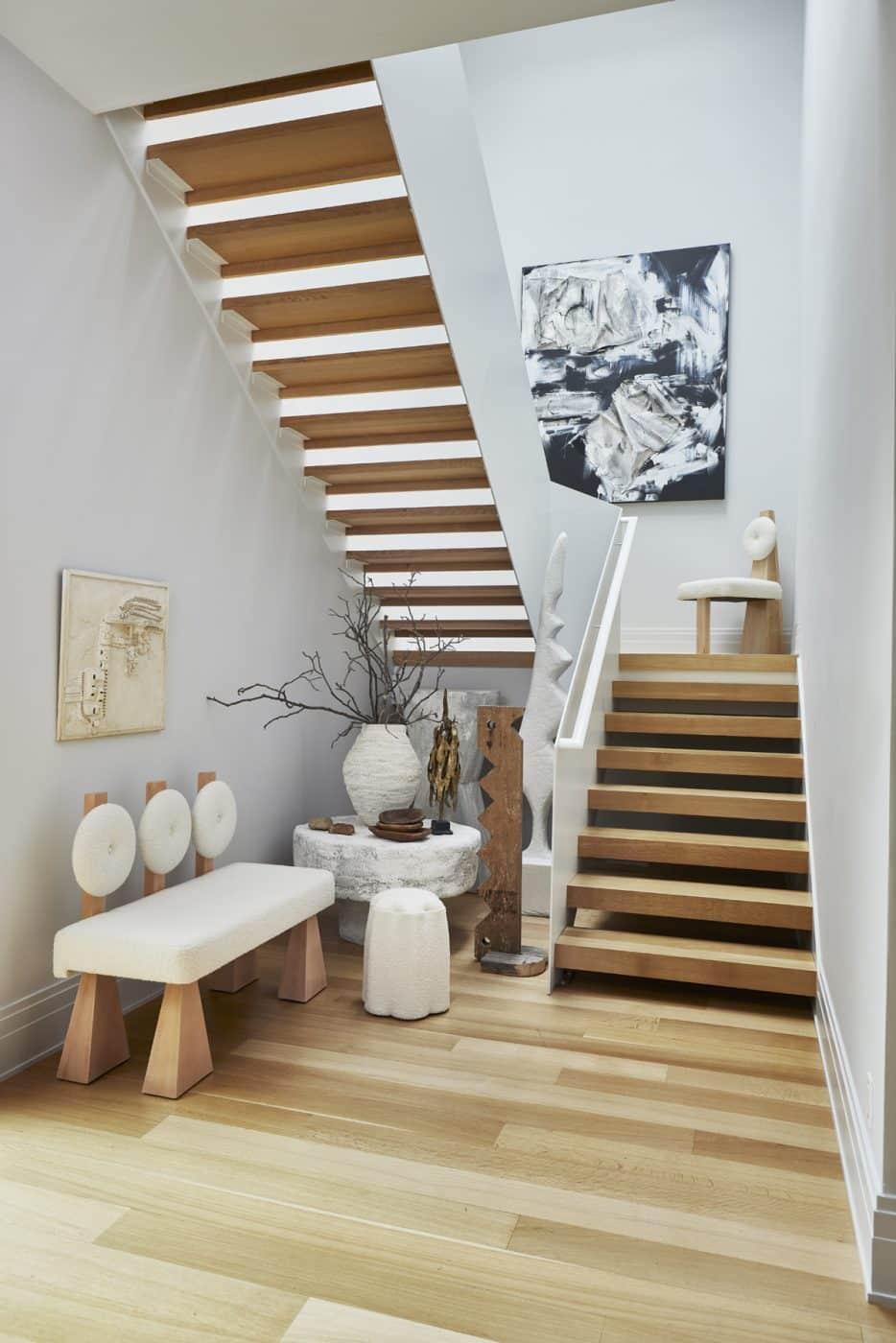 Christian Siriano home stairway