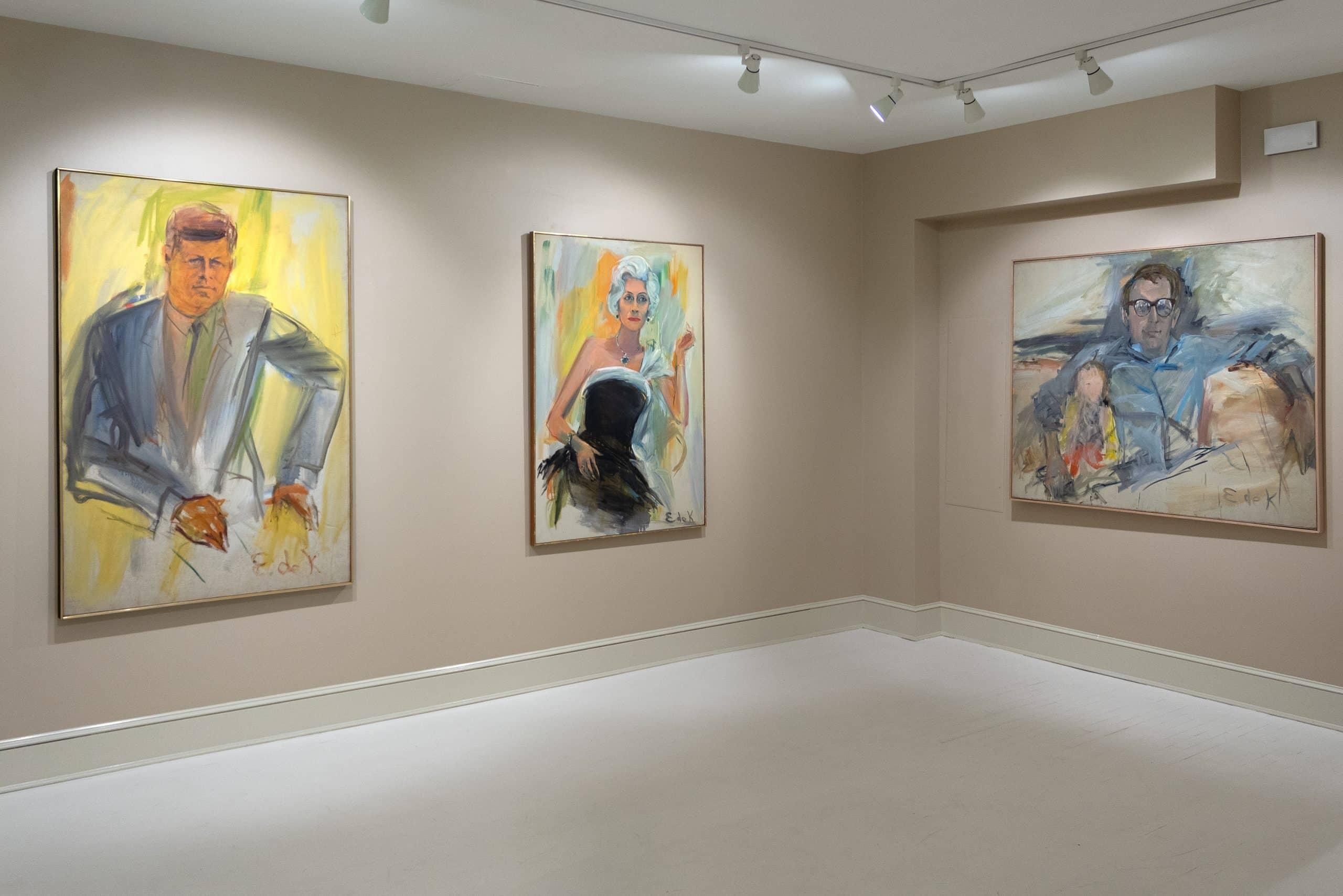 "Installation view of the exhibition ""De Kooning x De Kooning"" at Heather James Fine Art in New York"