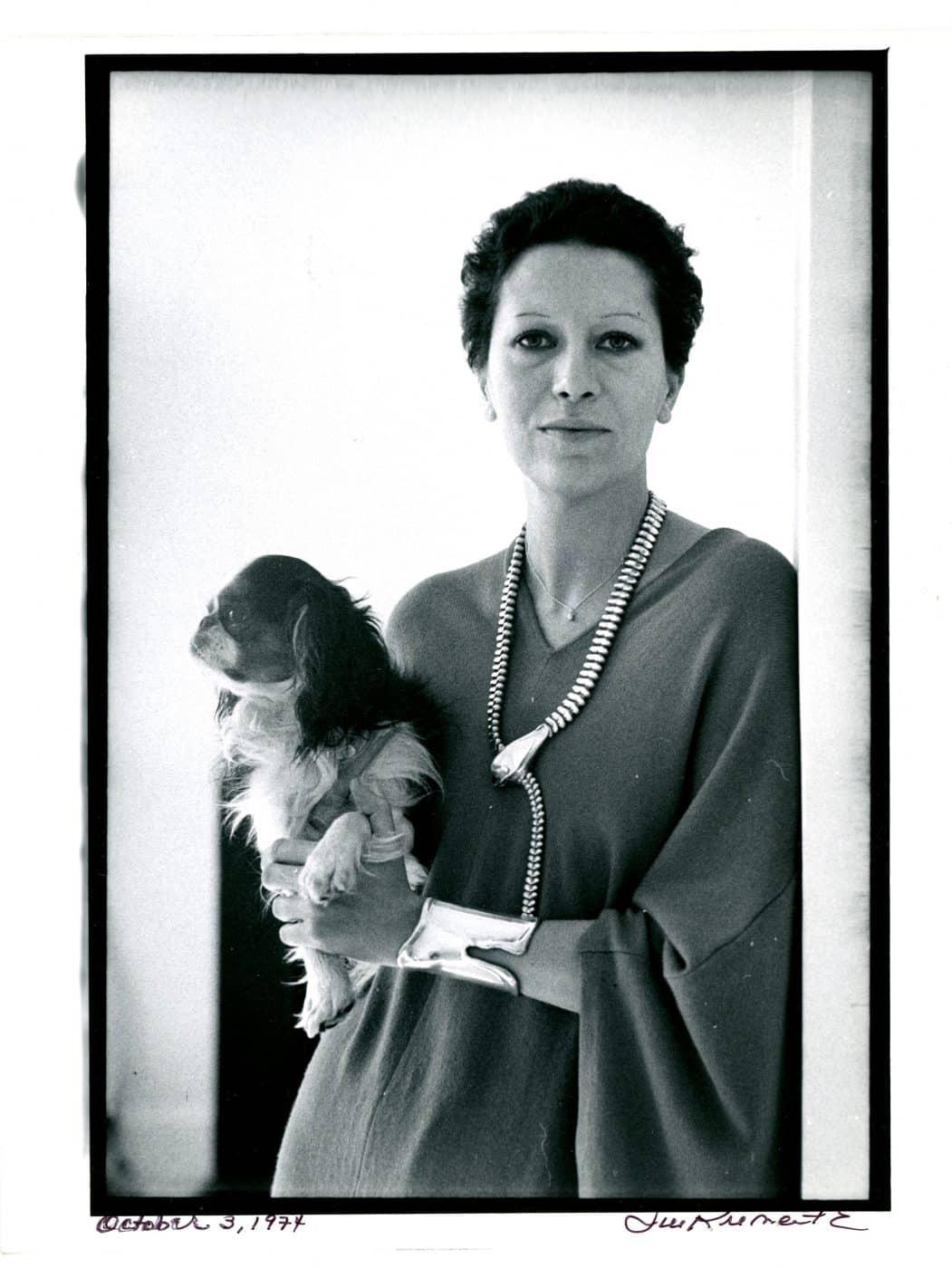Elsa Peretti with dog
