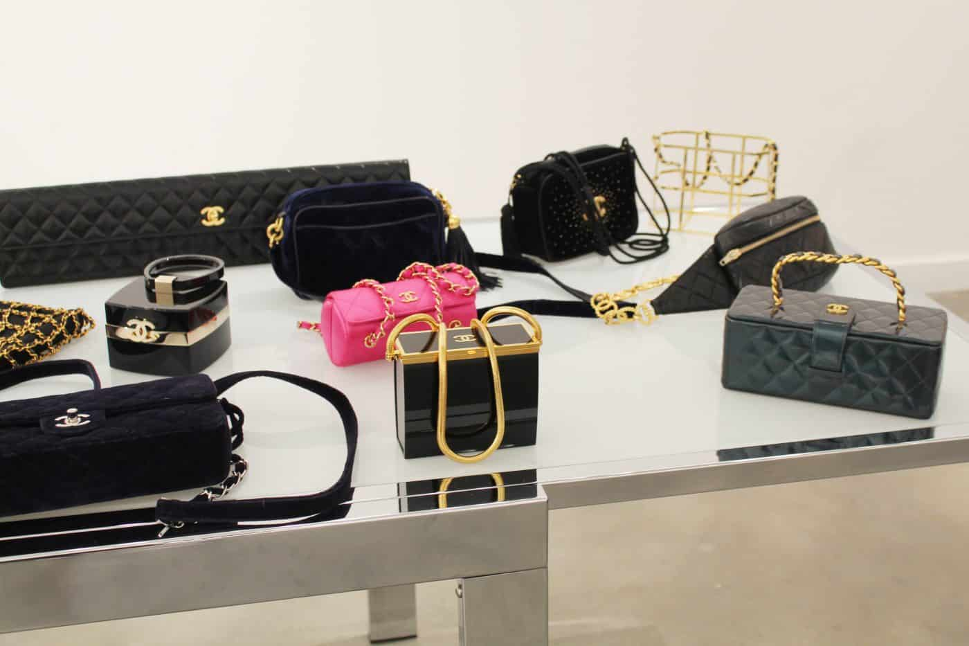 An assortment of mainly Chanel evening bags, offered by House of Carver