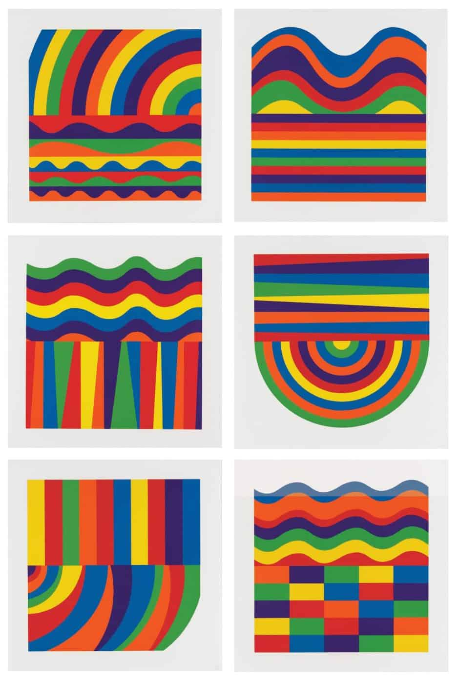 Arcs and Bands in Color, 2000, by SOL LEWITT