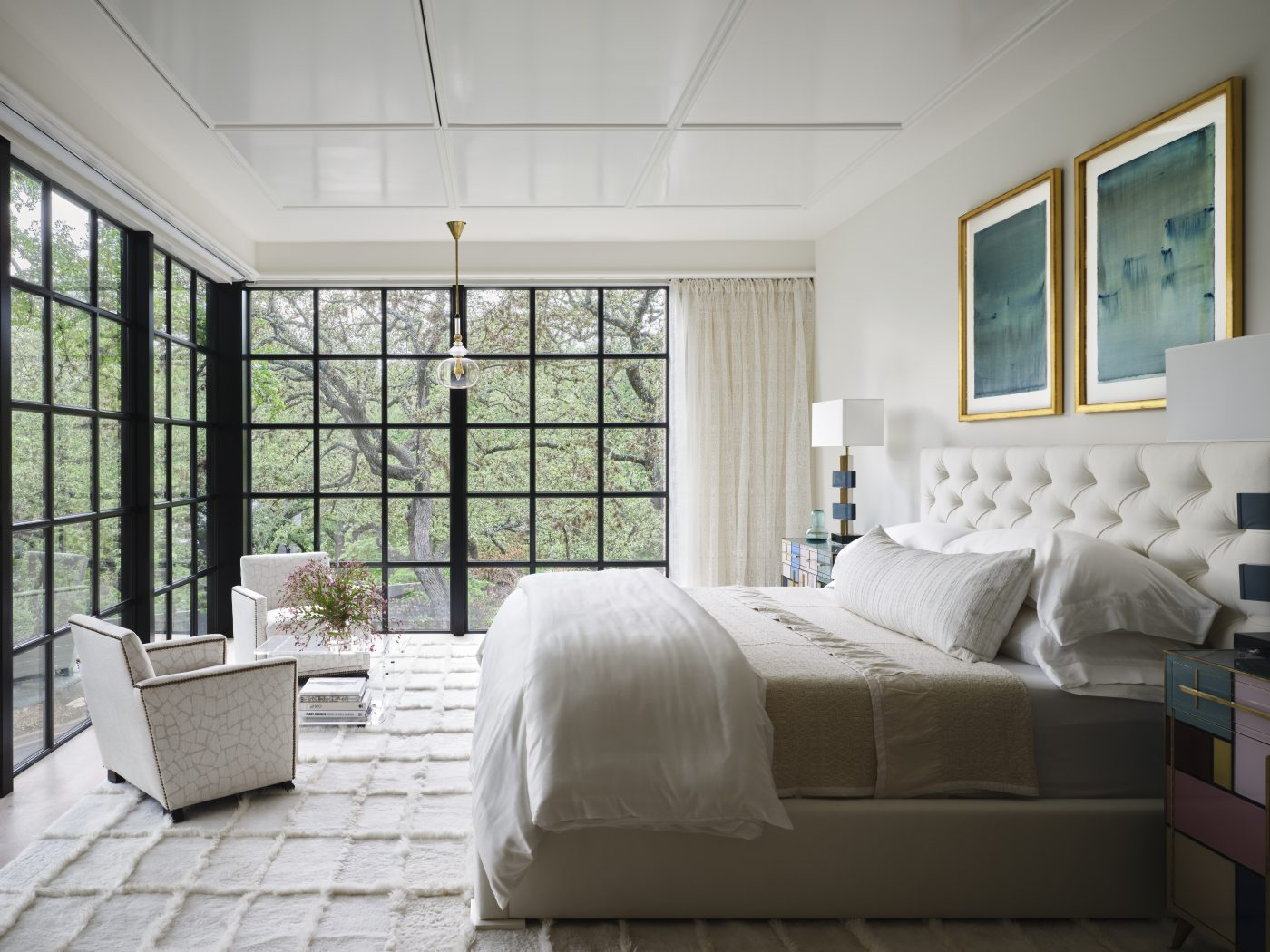 Fern Santini Austin house main bedroom