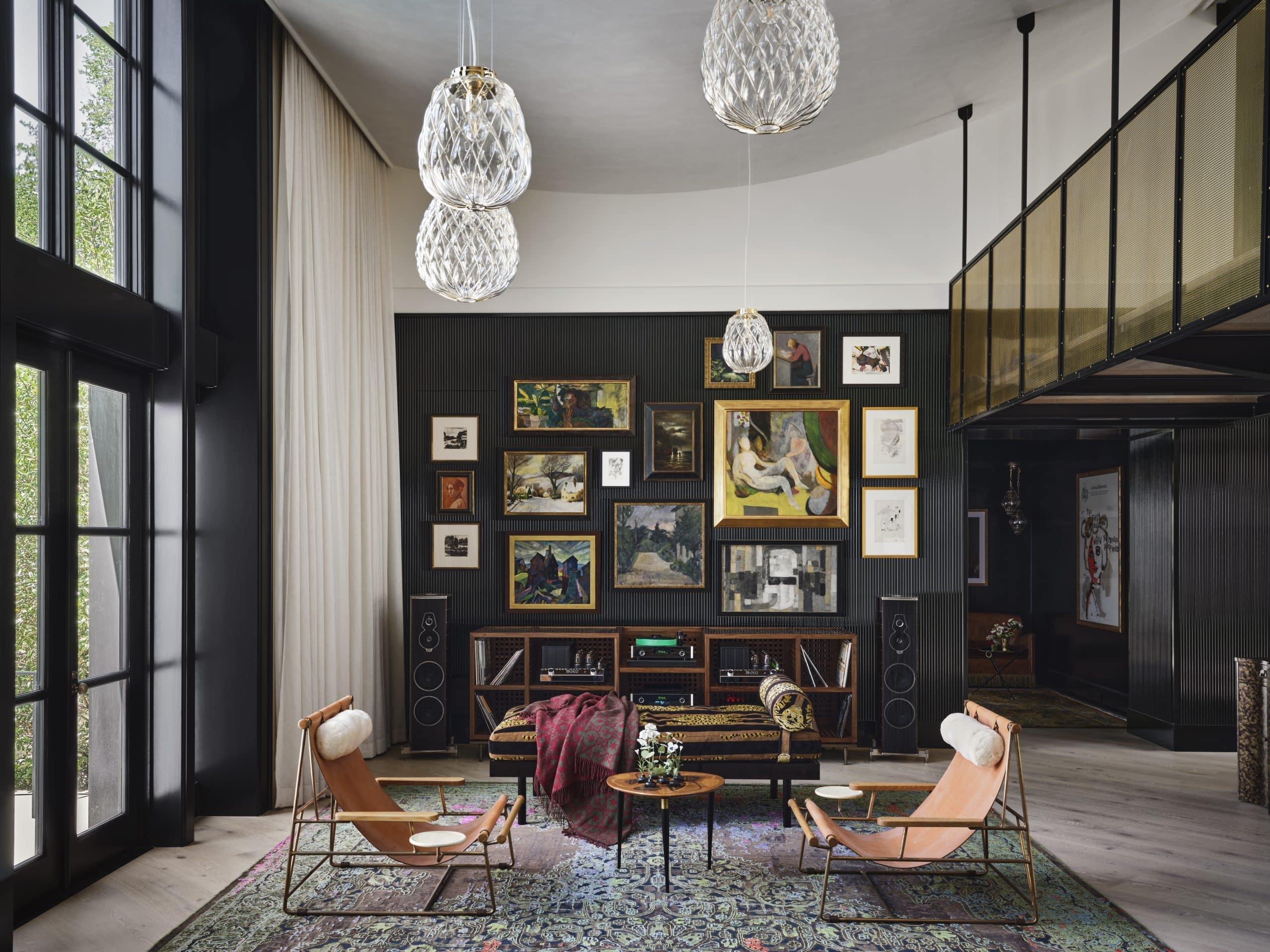 Fern Santini Austin house living room