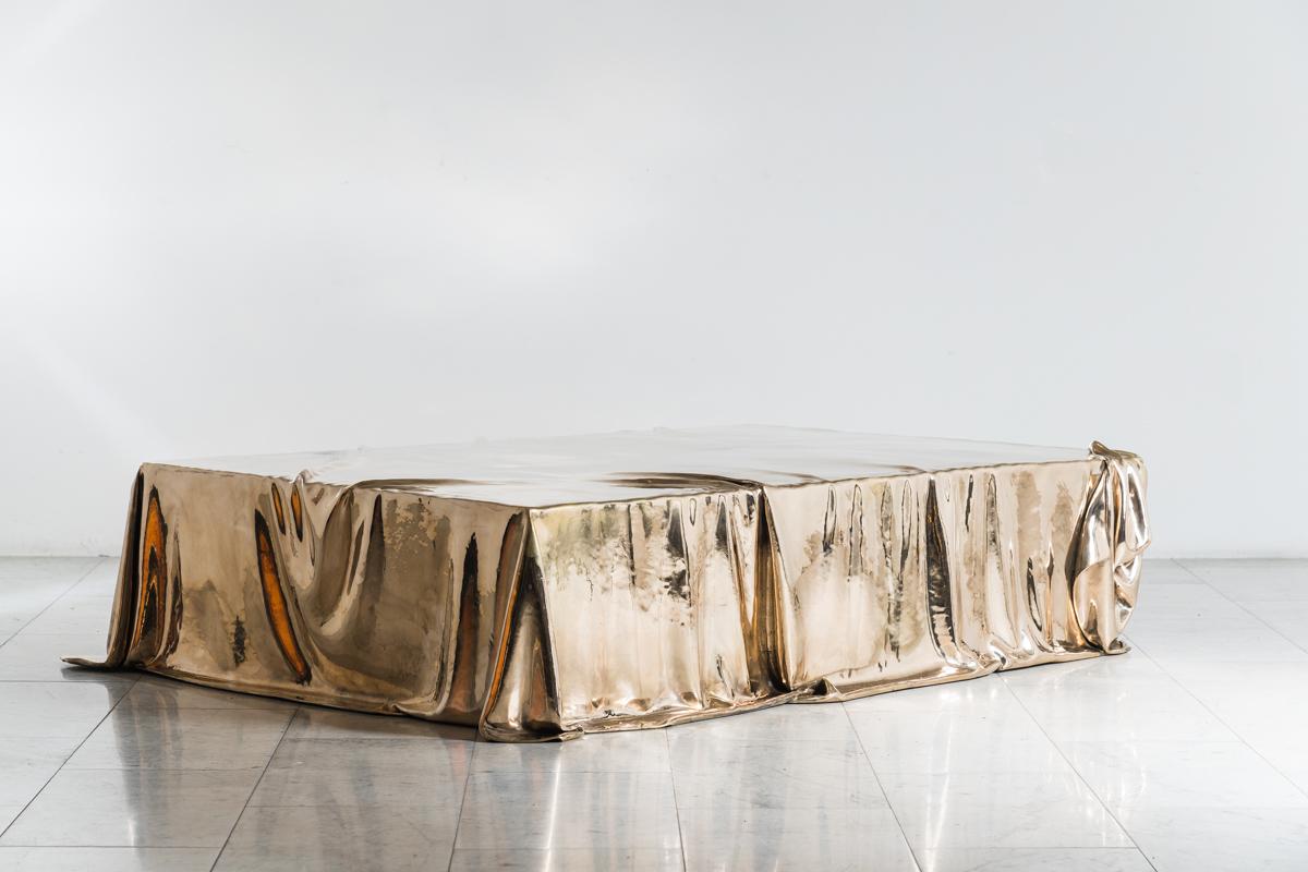 ISAAC KATZ'S LEVITAZ COFFEE TABLE, 2020, is shown by TODD MERRILL STUDIO.