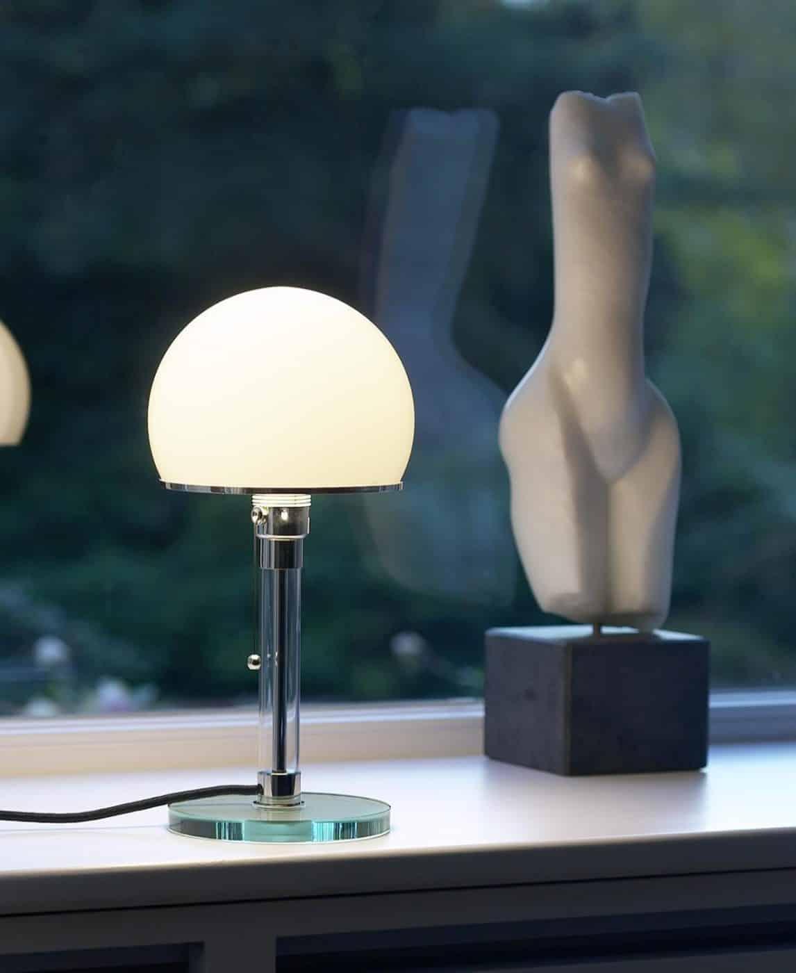 Wilhelm Wagenfeld's Bauhaus Model WG 24 lamp