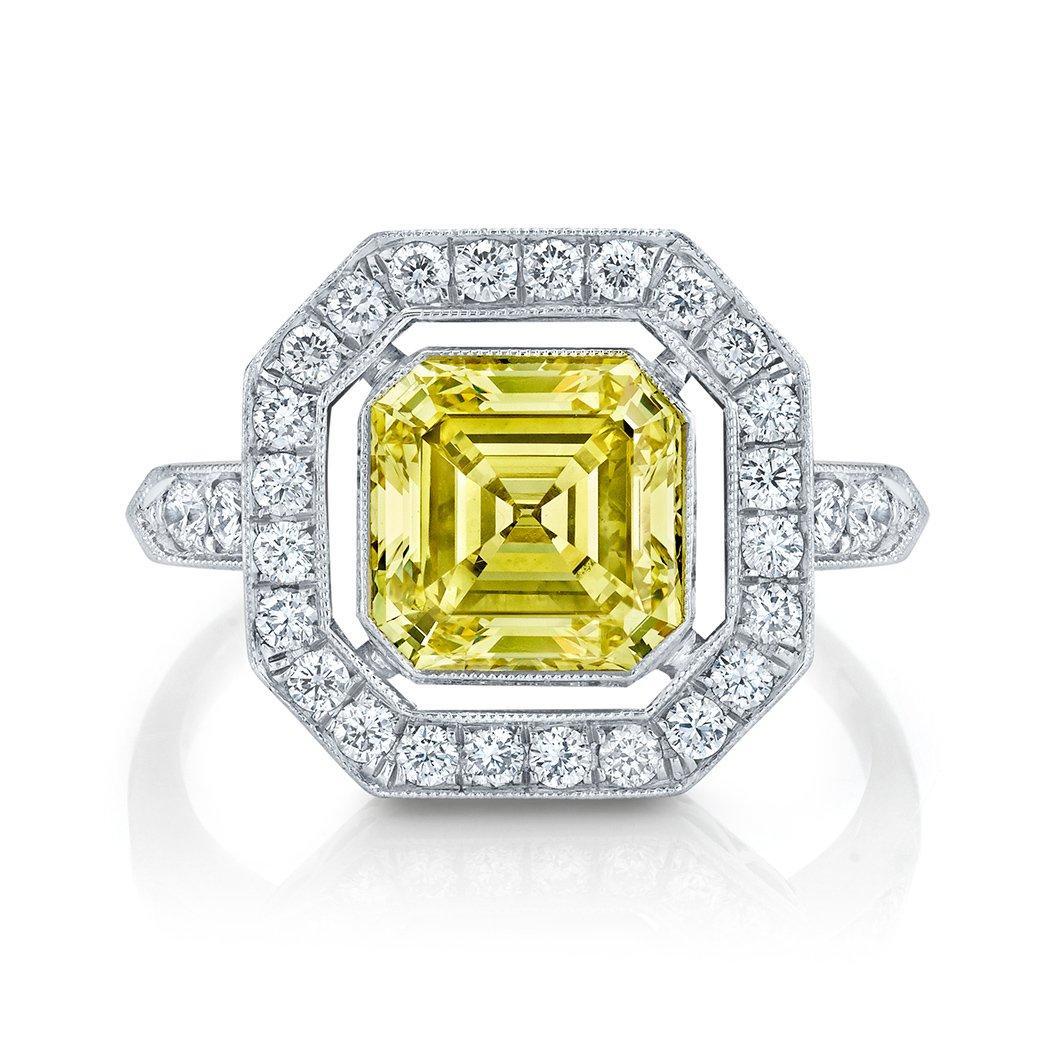 Neil Lane yellow-diamond engagement ring