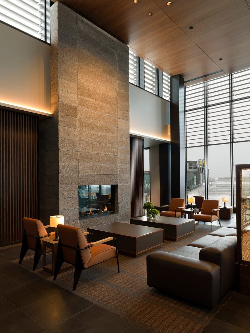 Private airport lobby in Seattle, designed by Clive Lonstein