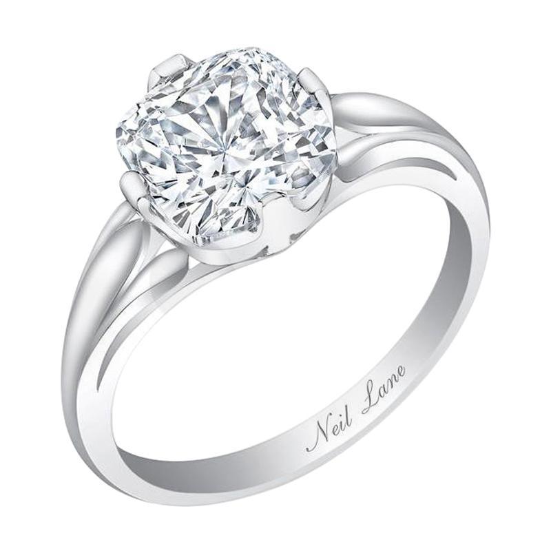 Neil Lane cushion-brilliant-cut-diamond solitaire ring