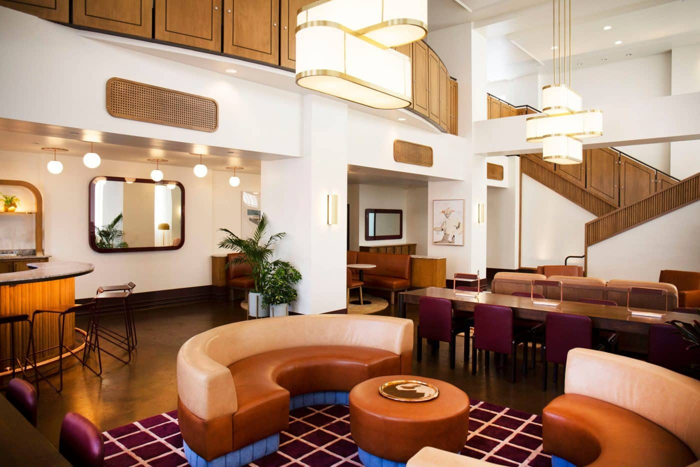 Hu Hotel lobby in Memphis, designed by Home Studios