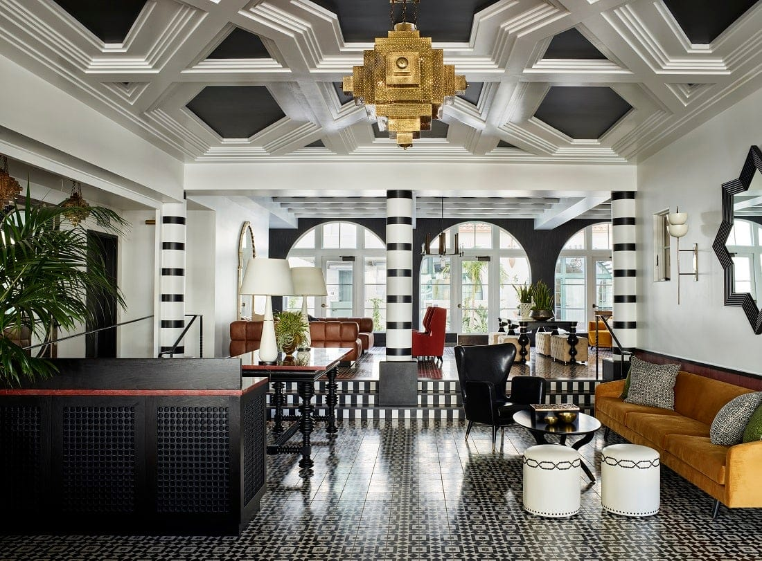 The Californian hotel lobby in Santa Barbara, designed by Martyn Lawrence Bullard