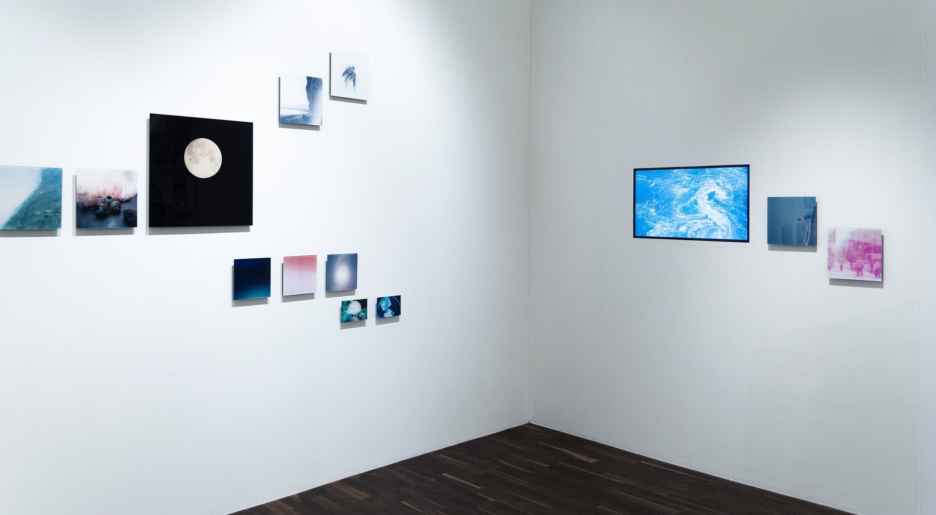 "Works by Japanese photographer Rinko Kawauchi in the 2013 exhibition ""Illuminance"" at Christophe Guye Galerie in Zurich"