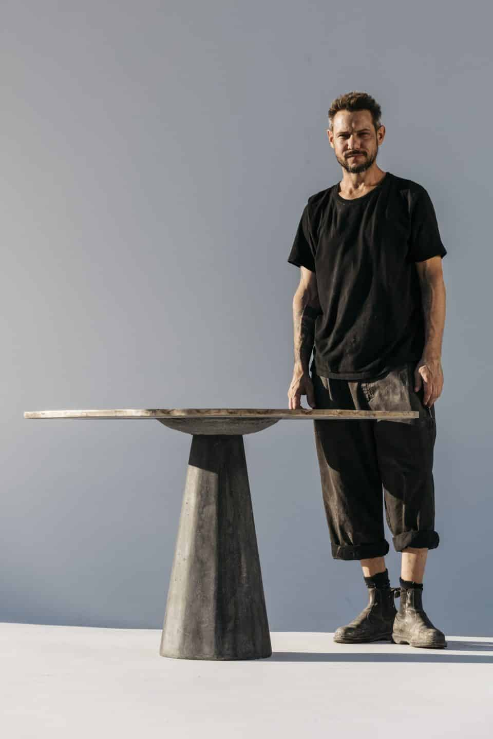 Why Hollywood A-Listers Can't Get Enough of James De Wulf's Concrete Furniture
