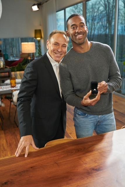 Jeweler Neil Lane with Matt James, from ABC's The Bachelor